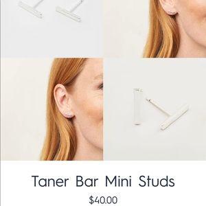 Gorjana Taner Bar Mini Studs, Silver